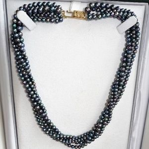 Jewelry - Multi Freshwater Cultured Pearl 14k Multistrand
